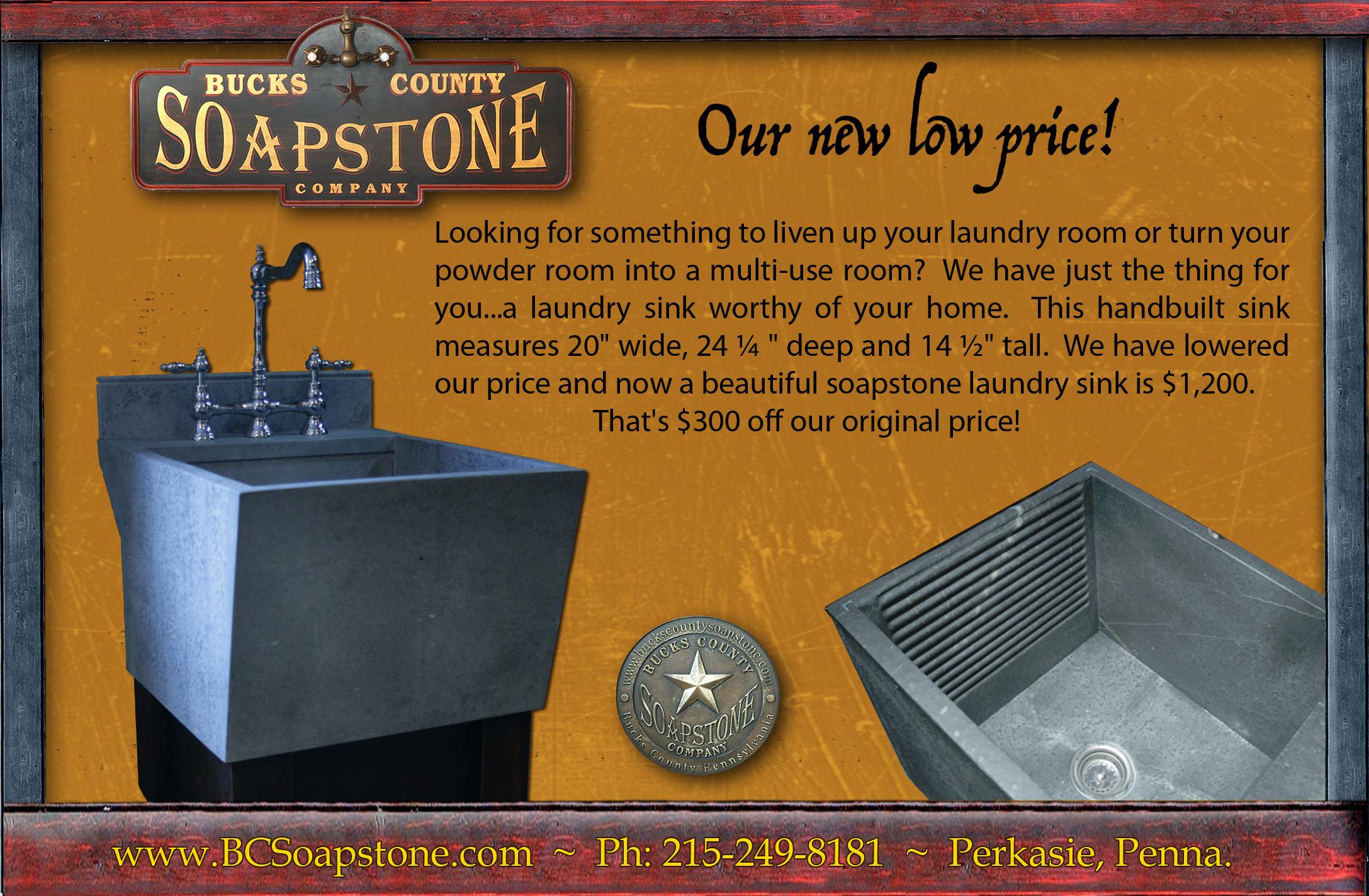 Soapstone Laundry Sink : Laundry sink sale