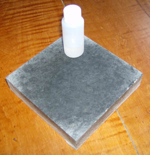 Soapstone sample with oil