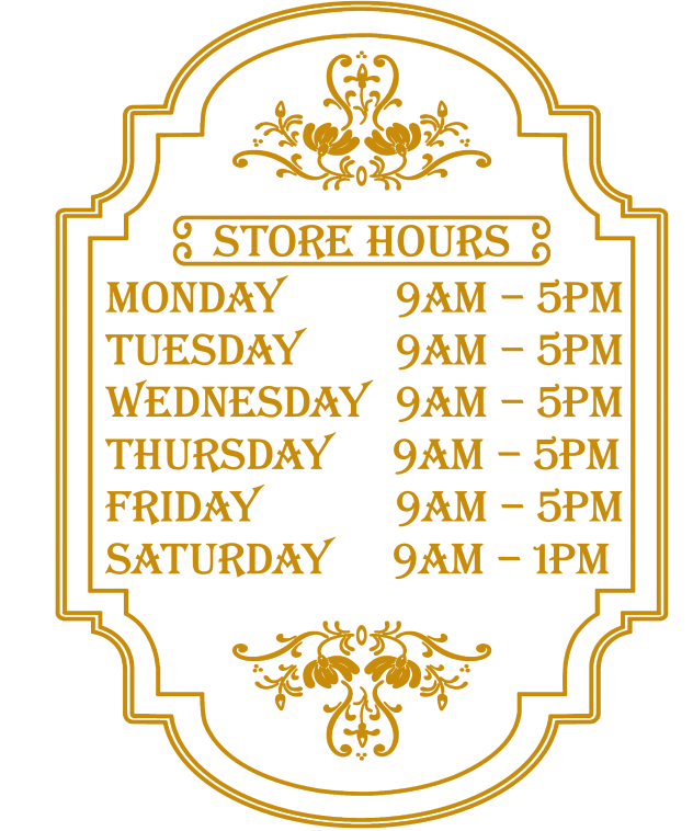 Store Hours GOLD