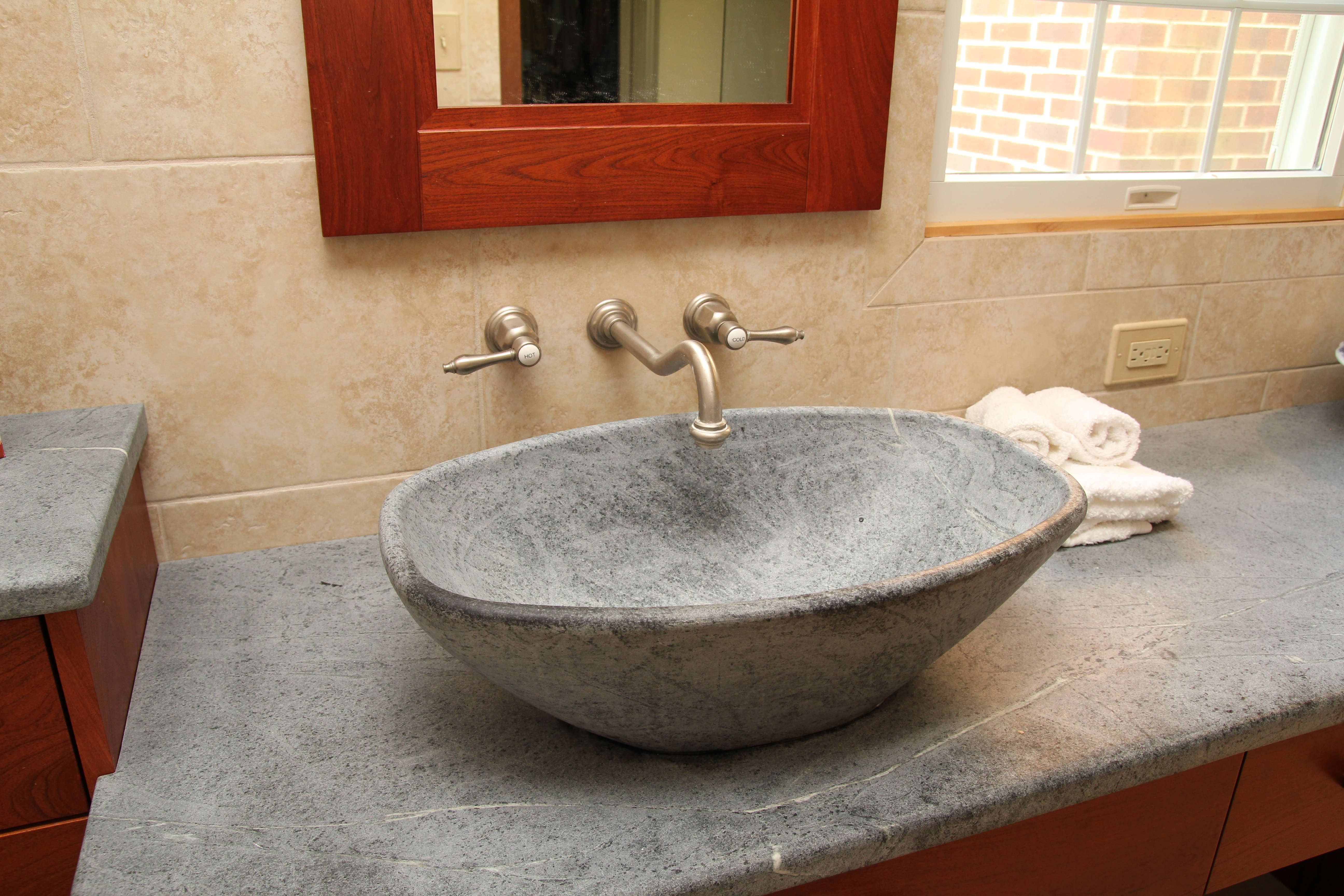 why mirror soapstone bathroom choose countertops hunker creative ideas design pin