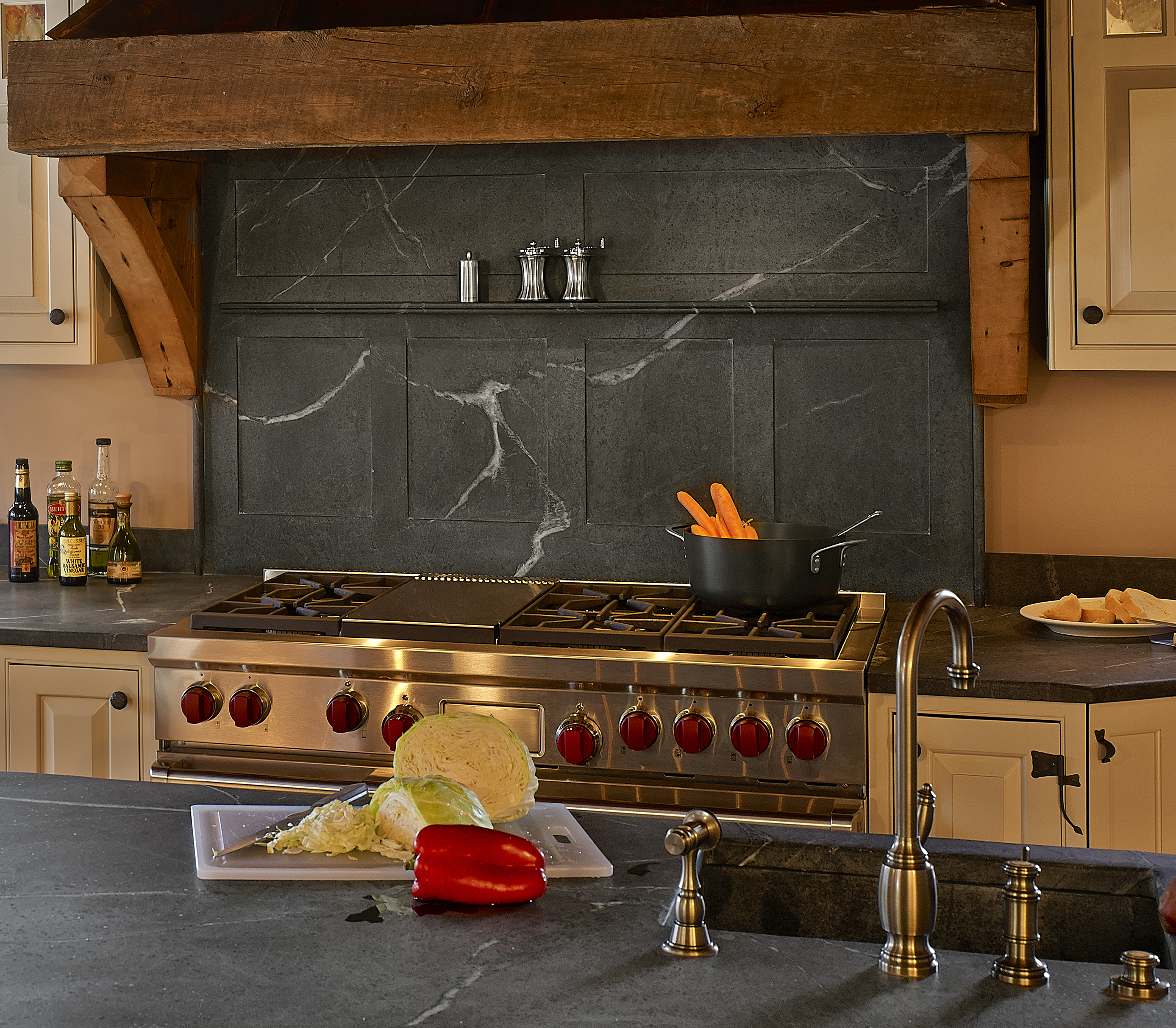 Beautiful Outdoor Kitchen Add A Stove Top And You Could: Bucks Country Soapstone Company Inc