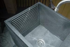 Laundry tub scrub board