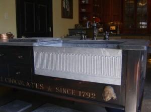 Custom carving on sink