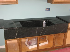 Custom sink with drainboards