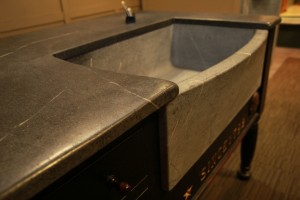 Block Sink with bow/slant