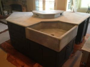 Custom corner sink